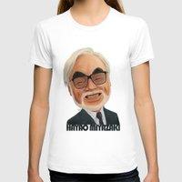 hayao miyazaki T-shirts featuring Hayao Miyasaki by CarolaRT