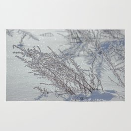 Winter grass Rug