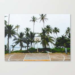 Basketball on Isla Bastimento, Bocas del Toro, Panama Canvas Print