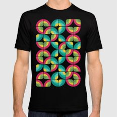 Passion Fruit Pattern Mens Fitted Tee MEDIUM Black