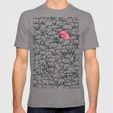 Word 2 the Herd v1 SMALL Mens Fitted Tee Tri-Grey