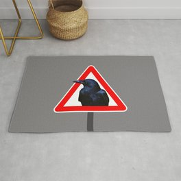 road sign Raven right of way #society6 Rug