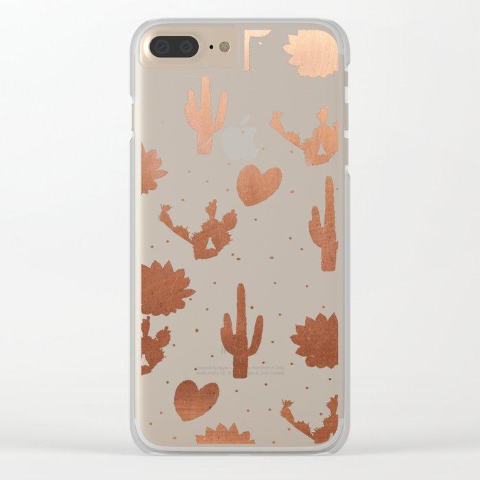 Copper Cacus Clear iPhone Case