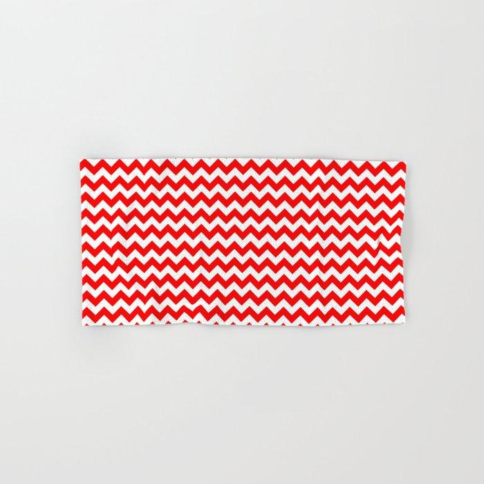 Chevron (Red/White) Hand & Bath Towel