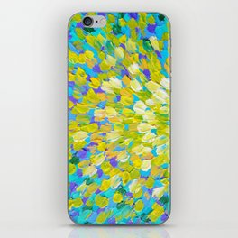 SPLASH 2 - Bright Bold Ocean Waves Beach Ripple Turquoise Aqua Lime Lemon Colorful Rainbow Wow iPhone Skin