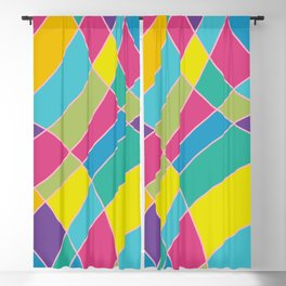 80s Abstract Painting #1 Blackout Curtain