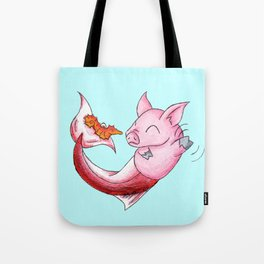 Piggy of the Sea Tote Bag