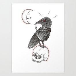 A Crow For Life Art Print