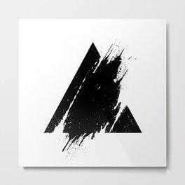 Splashed Triangle Metal Print