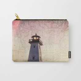 Lighthouse Map Carry-All Pouch
