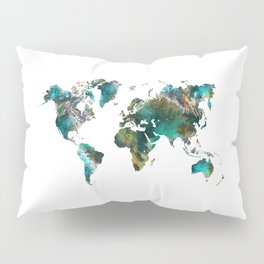 Map of the World tree #map #world Pillow Sham