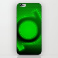 green lantern iPhone & iPod Skins featuring Green Lantern by Kosept