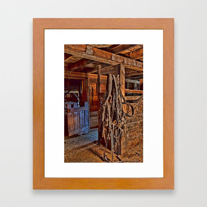 Draft Horse Harness Framed Art Print By Alanathrower Society6