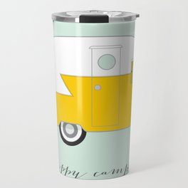 Yellow Happy Camper Travel Mug