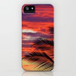 pomegranate sunset iPhone Case