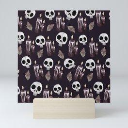 candle skulls Mini Art Print