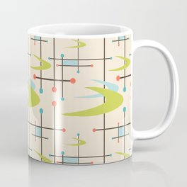 Mid Century Modern in Lime and Blush Coffee Mug