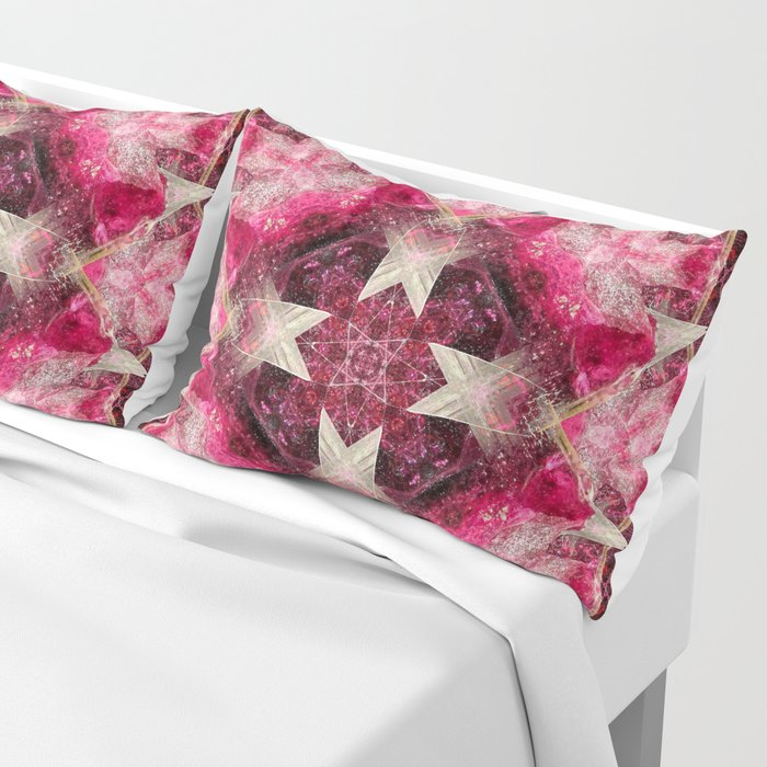 Crystal Matrix Mandala Pillow Sham