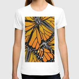 MONARCH BUTTERFLIES MONTAGE NATURE DESIGN T-shirt