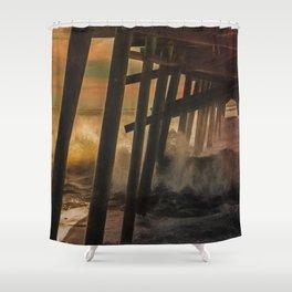 Storm Under The Pier Shower Curtain