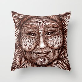 Wisdom Keeper Brown #53 (Expansion) Throw Pillow