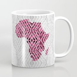 Africa in Grey Pink Coffee Mug