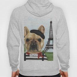 Chapo the French Mime Bulldog Bonejour! Hoody