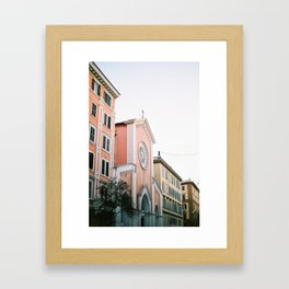 Pastel colored street | Travel photography print Rome, Italy | Pastel colored wall art Framed Art Print