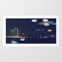 Dallas, TX Art Print