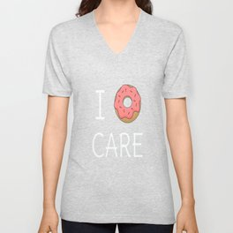 Cute I Donut Care Unisex V-Neck