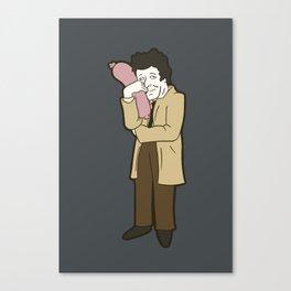 Columbo and his sausage Canvas Print