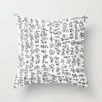 code Throw Pillows featuring Code by nefos