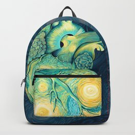 Anatomical Human Heart - Starry Night Inspired Backpack