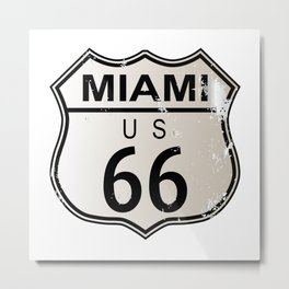 Miami Route 66 Metal Print