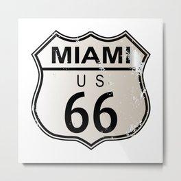 Miami Route 66 Metal Print