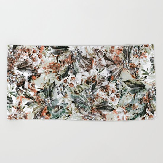 Orchidaceae Beach Towel