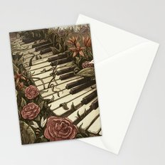Piano and Flowers Stationery Cards