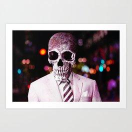 Skull On The Town Art Print