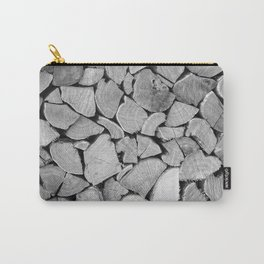 black'n white wood Carry-All Pouch