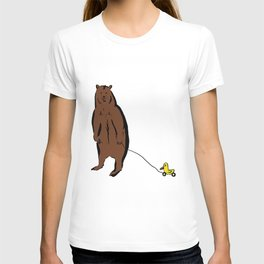 Brown Bear with Rubber Duck T-shirt