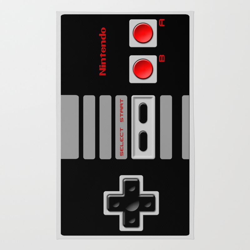 Nintendo Controller Rug Roselawnlutheran