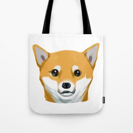 a shiba inu dog headshot Tote Bag