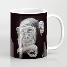 a Jane Goodall quote - black Coffee Mug
