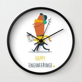 Happy Engineering Wall Clock