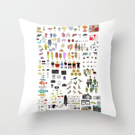 Letterpress Collection #04 Throw Pillow