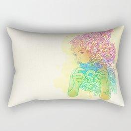 Doodle shot Rectangular Pillow