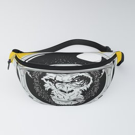 Monkey in white space Fanny Pack