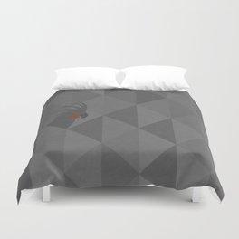 Black palm cockatoo Duvet Cover