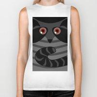 racoon Biker Tanks featuring racoon - raccoon  by ArigigiPixel