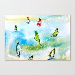Windsurfing 2 Canvas Print